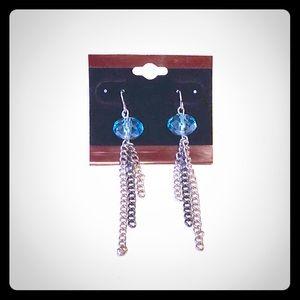 Jewelry - Light Blue Bead Drop/Dangle Earrings